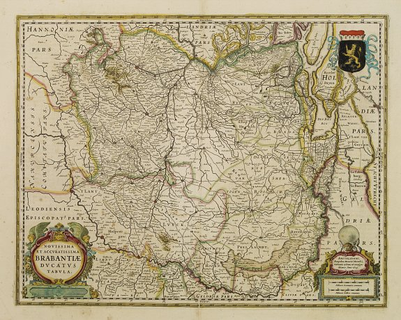 HONDIUS, H. -  Novissima et Accuratissima Brabantiae Ducatus Tabula.