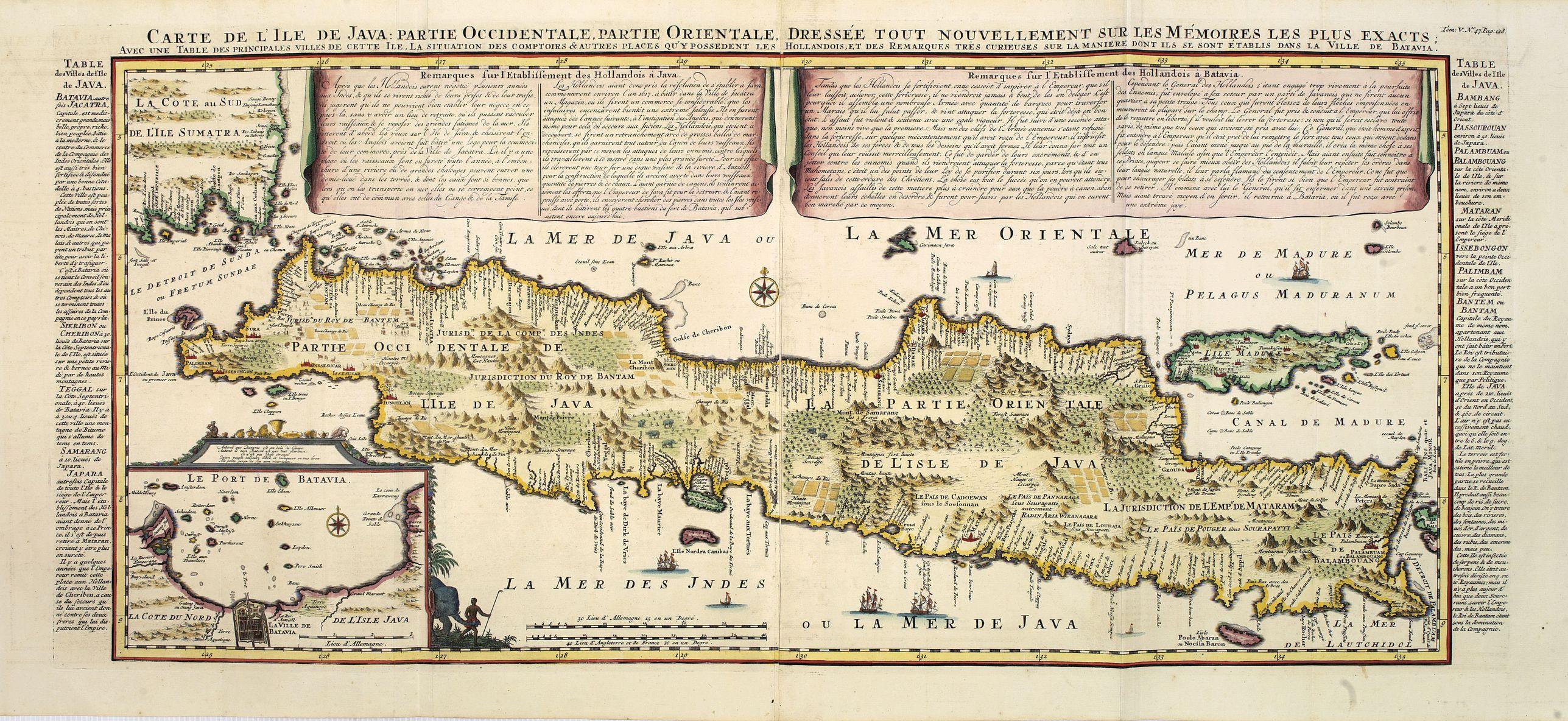 CHATELAIN, H. -  Carte de l'Ile de Java. . .