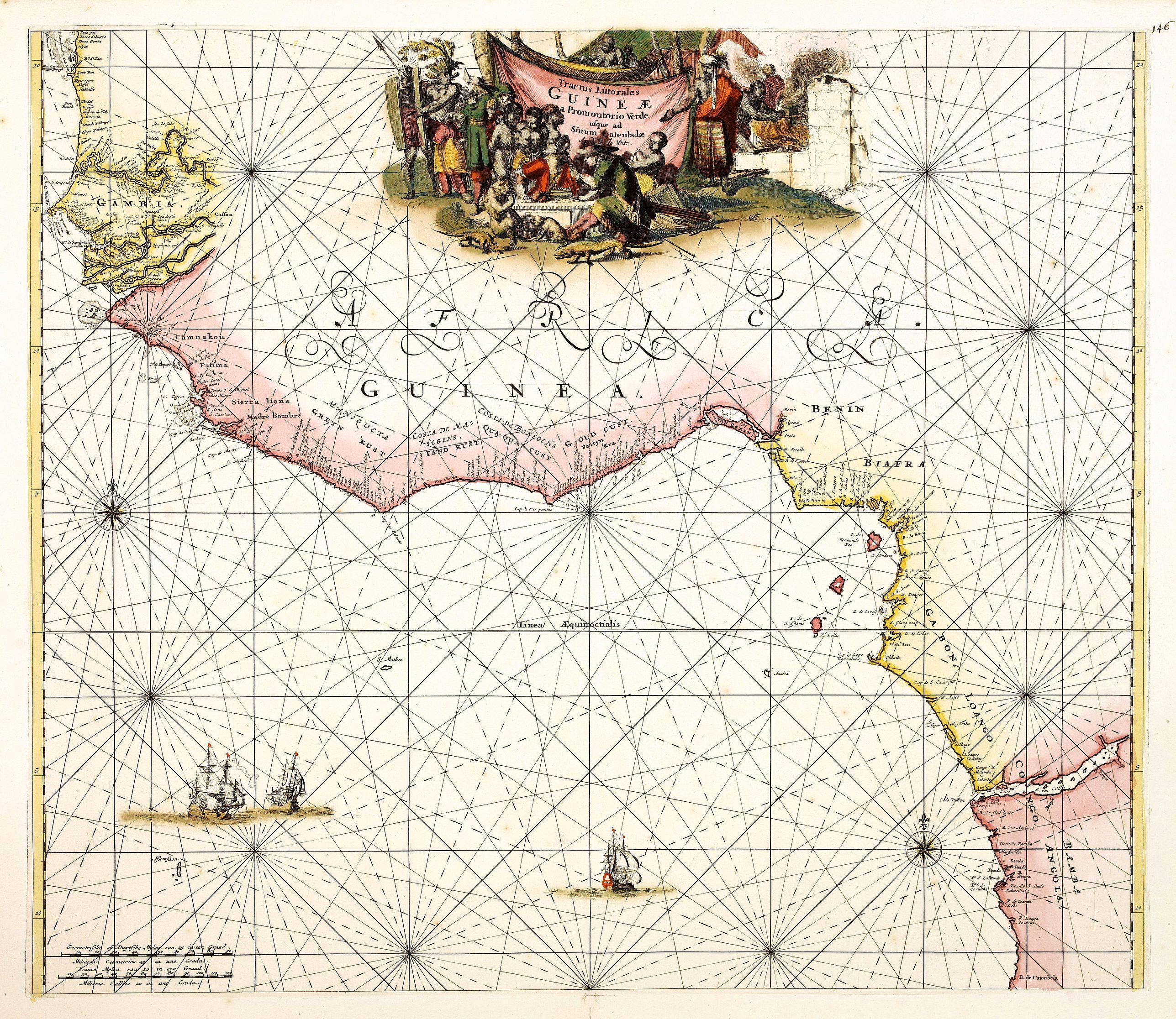 DE WIT, F. -  Tractus Littorales Guineae a Promontorio Verde usque ad sinum Catenbelae.