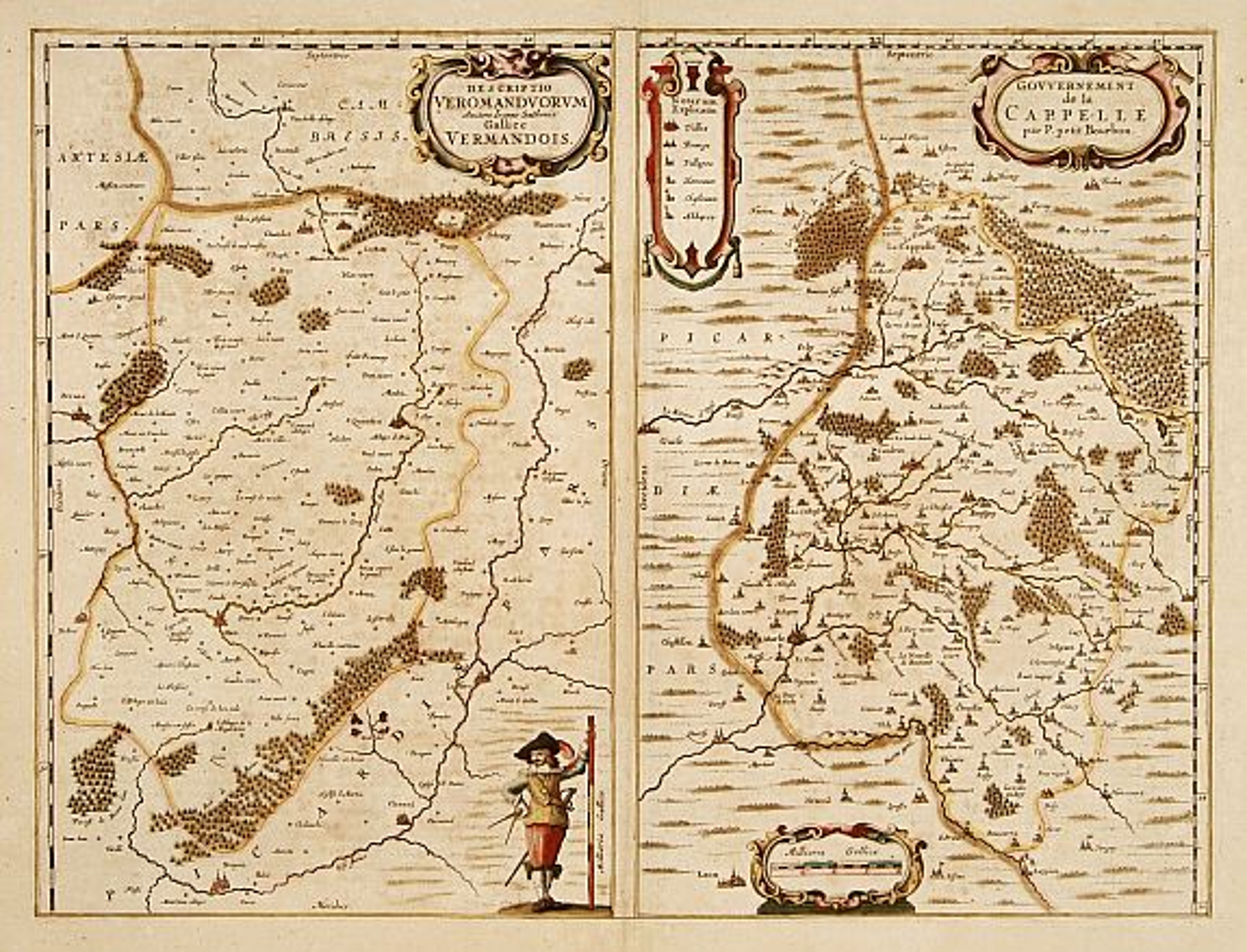HONDIUS, H. -  Descriptio Veromanduorum. / Gouvernement de la Cappelle..
