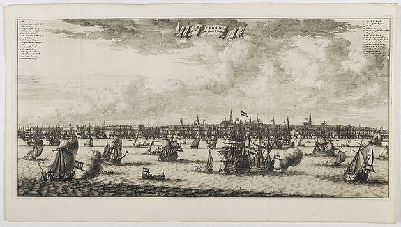 COMMELIN, C. -  Amsterdam aan de Waterkant vanaf 't IJ te Sien.