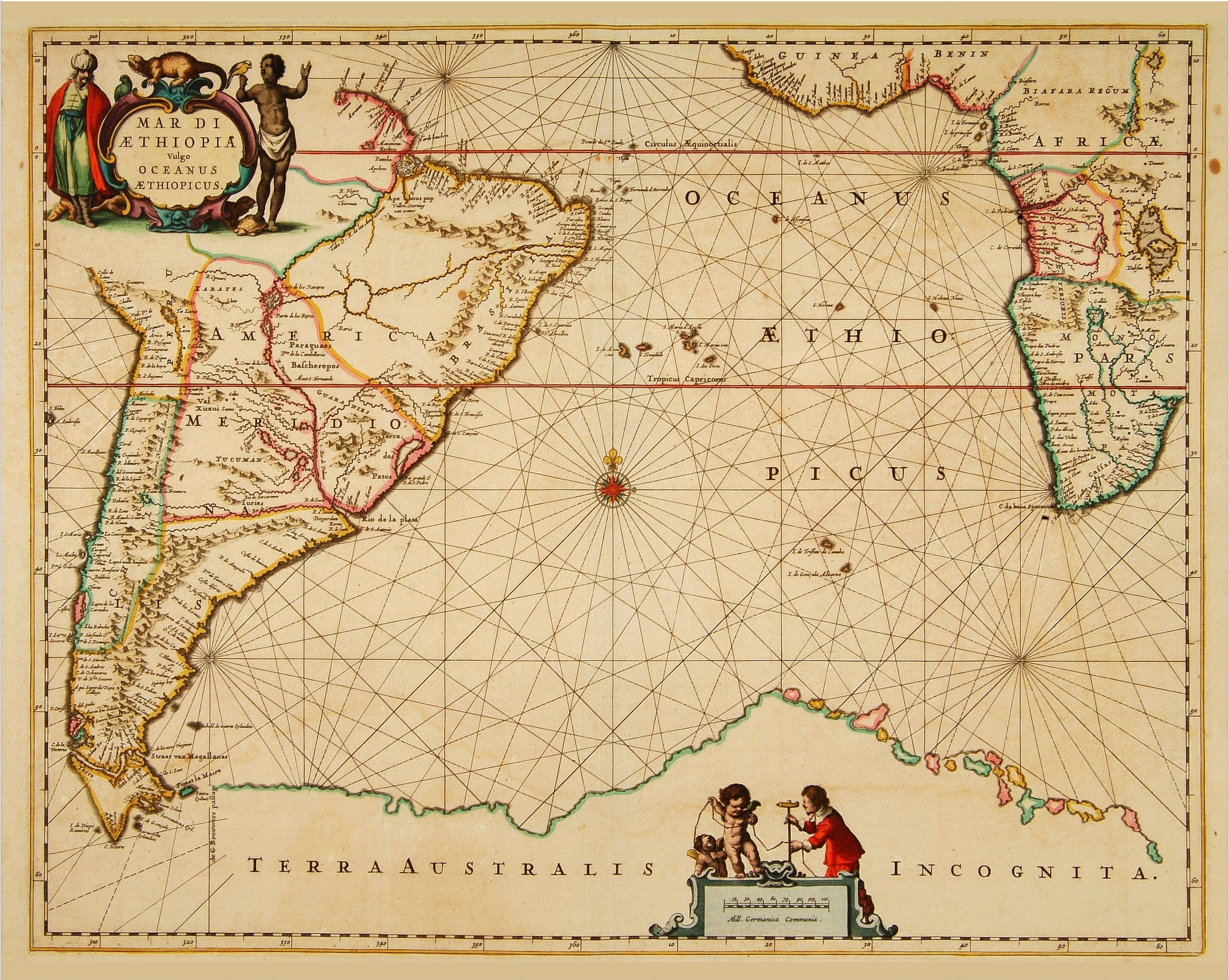 JANSSONIUS, J. -  Mar di Aethiopia.
