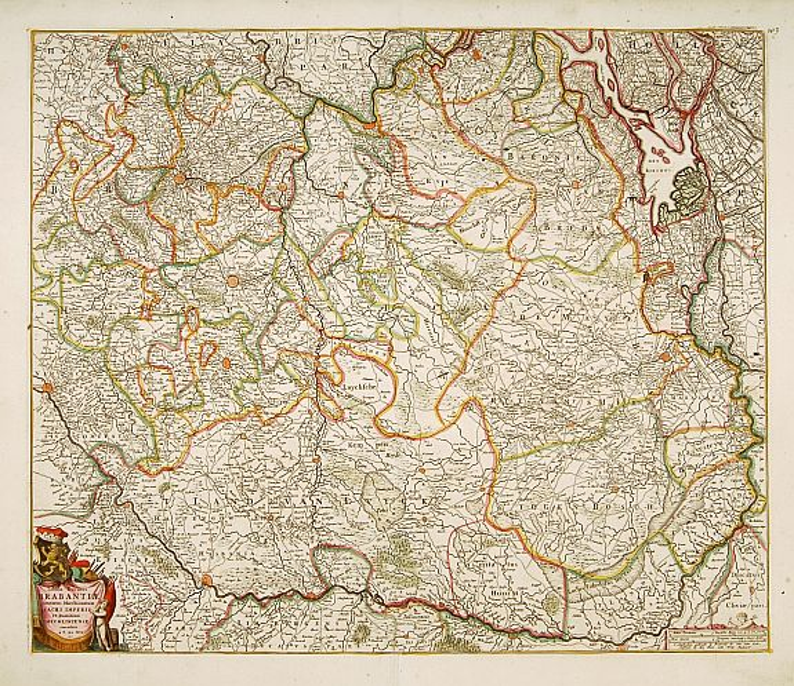 DE WIT, F. -  Tabula Ducatus Brabantiae.