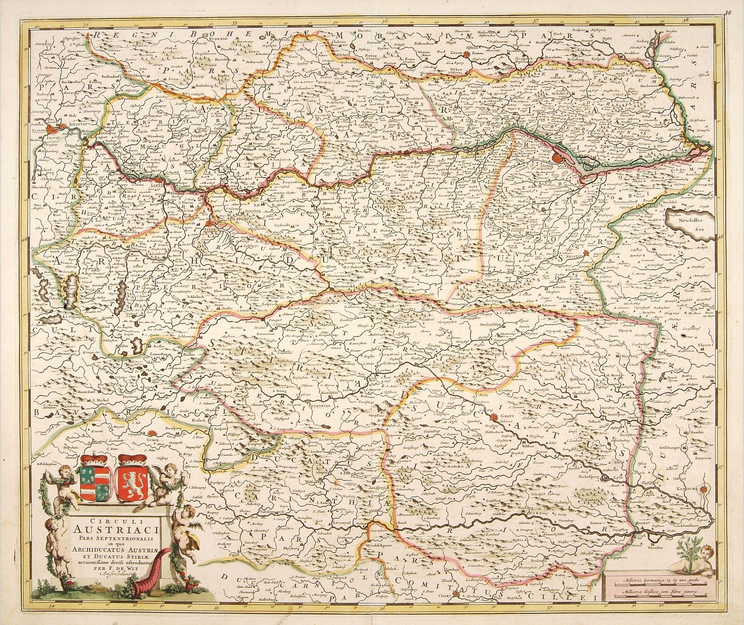 DE WIT, F. -  Circuli Austriaci pars Septentrionalis in qua Archiducatus.