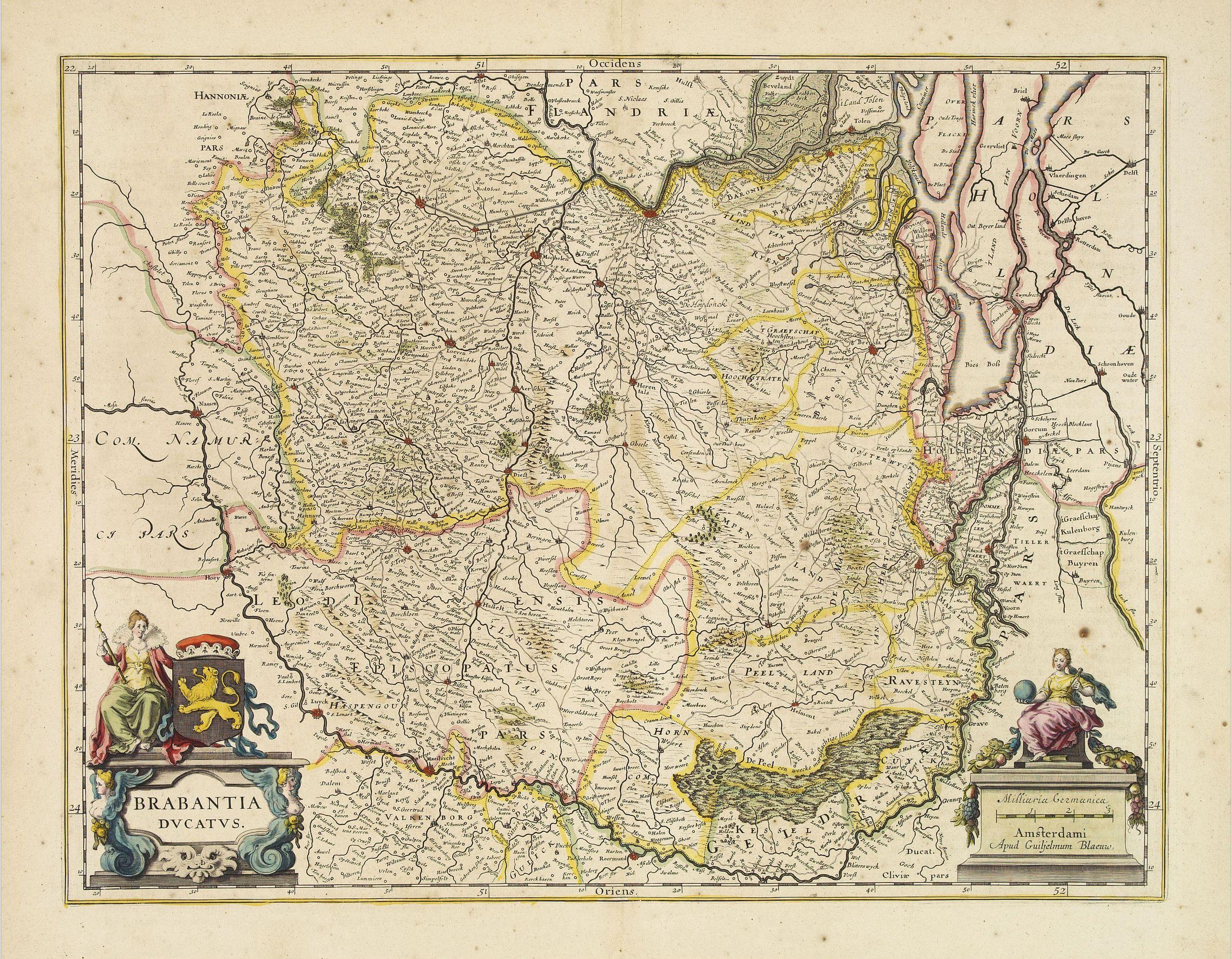 BLAEU, W. -  Brabantia Ducatus.