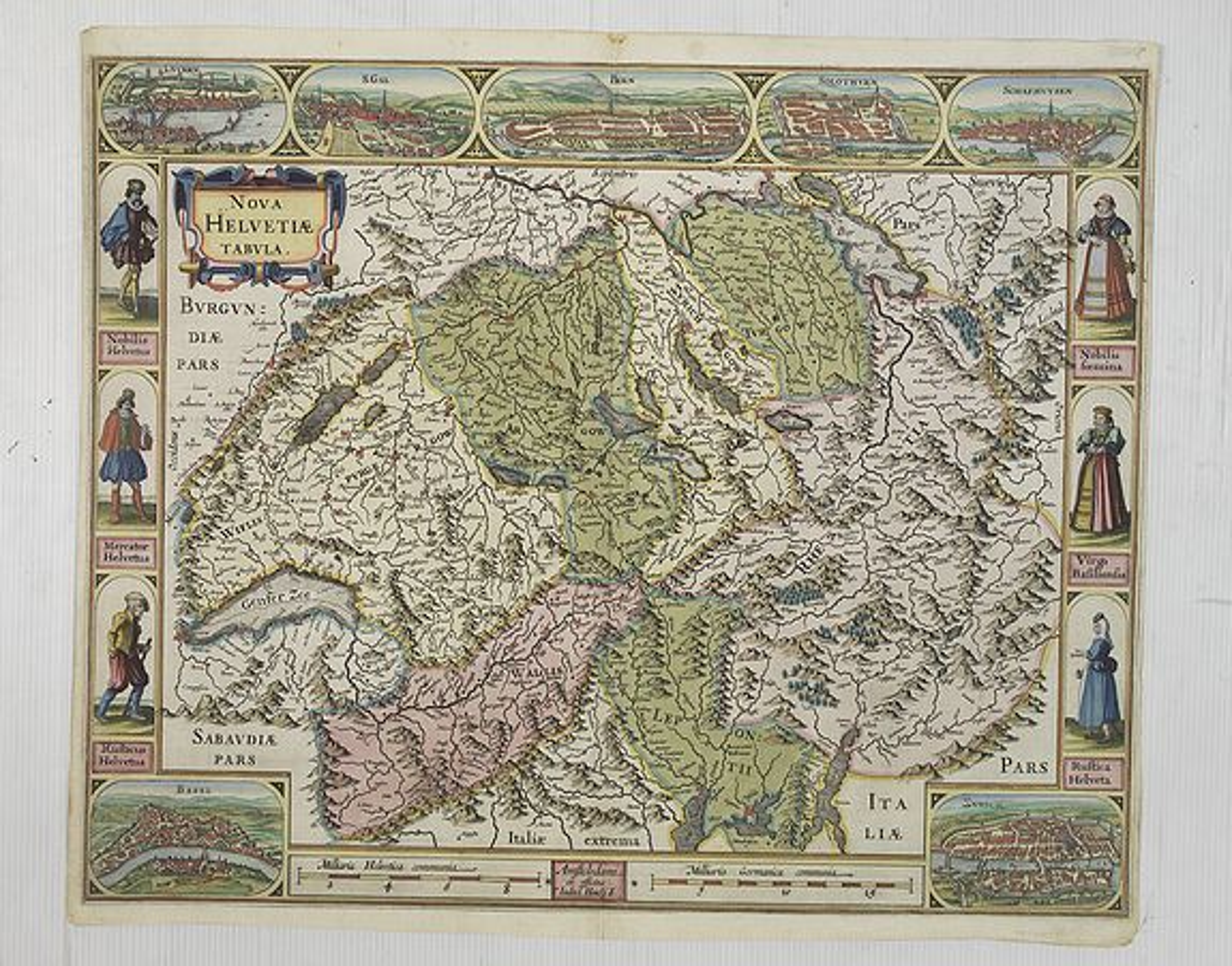 JANSSONIUS, J. -  Nova Helvetiae Tabula.