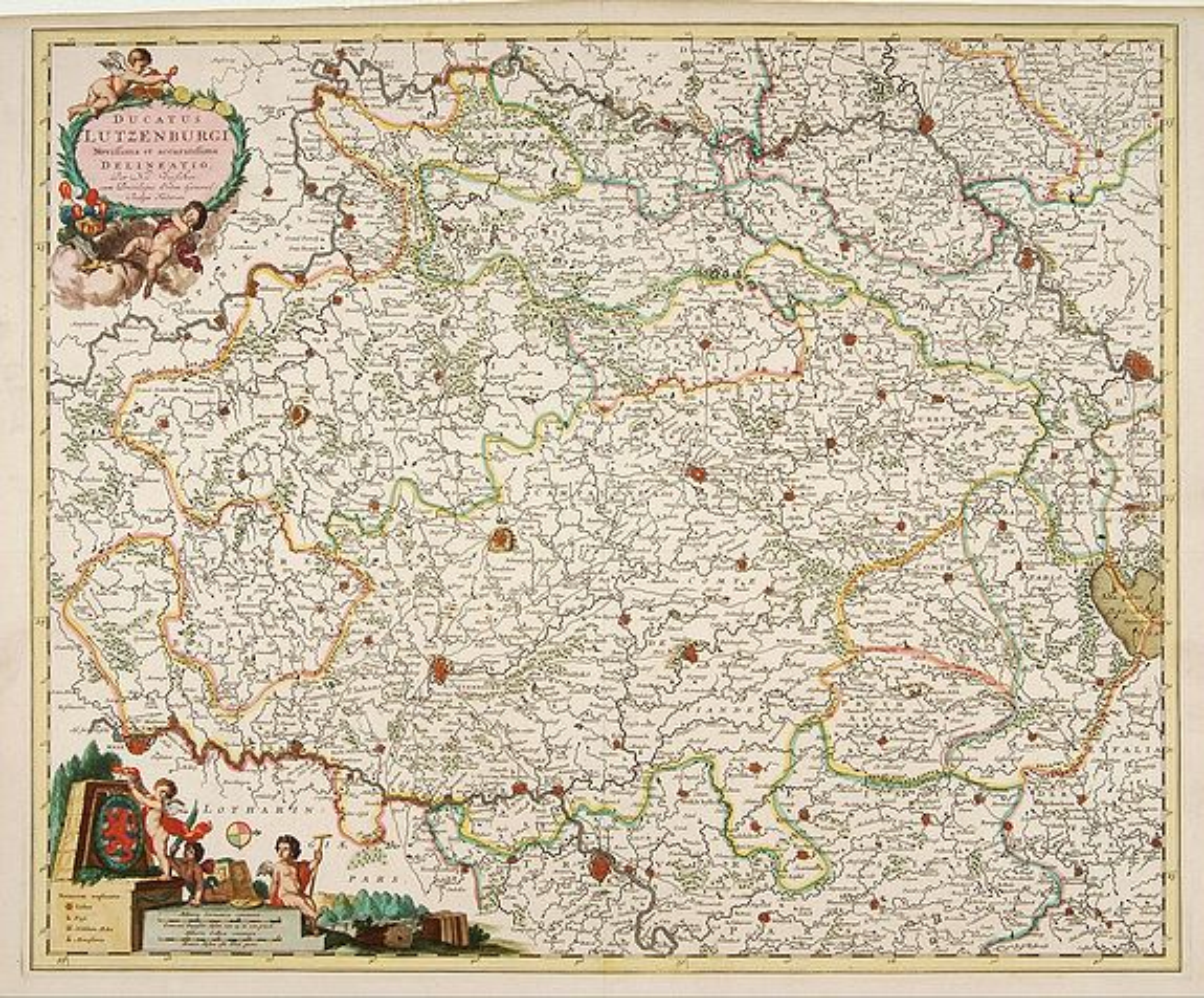 VISSCHER, N. -  Ducatus Lutzenburgi Novissima et Accuratissima Delineatio.