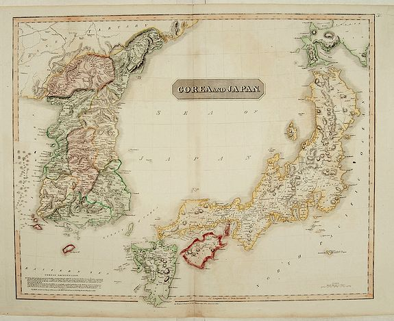THOMSON, J.,  Corea and Japan., antique map, old maps