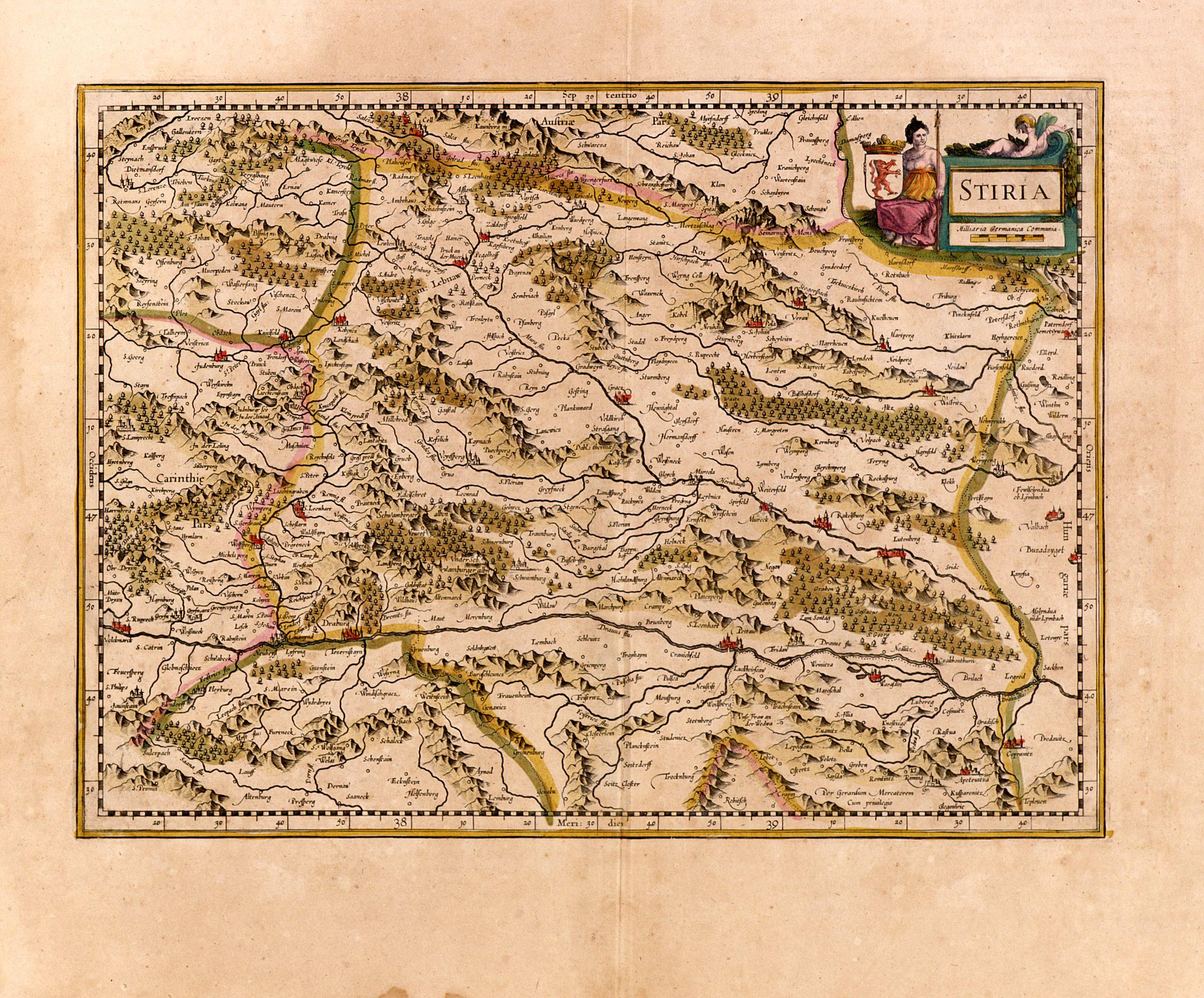 MERCATOR, G./ HONDIUS, H. -  Stiria.