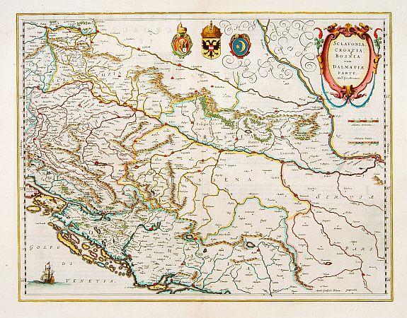 BLAEU, G. -  Sclavonia, Croatia cum Dalmatiae Parte.