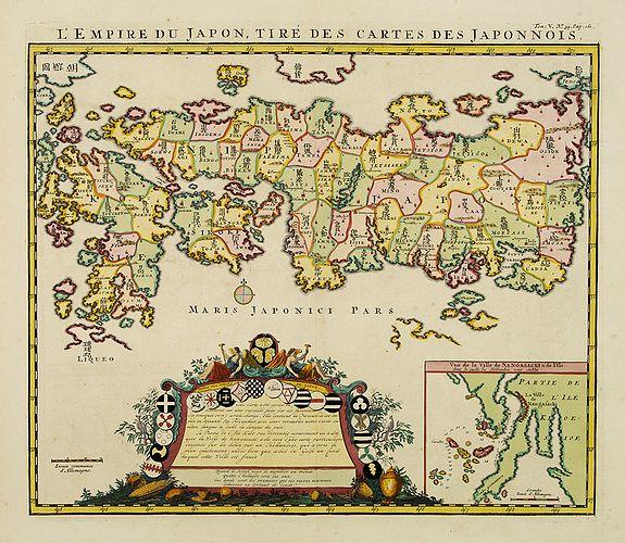 CHATELAIN, H. -  L'Empire du Japon, tire des cartes des Japonnois.
