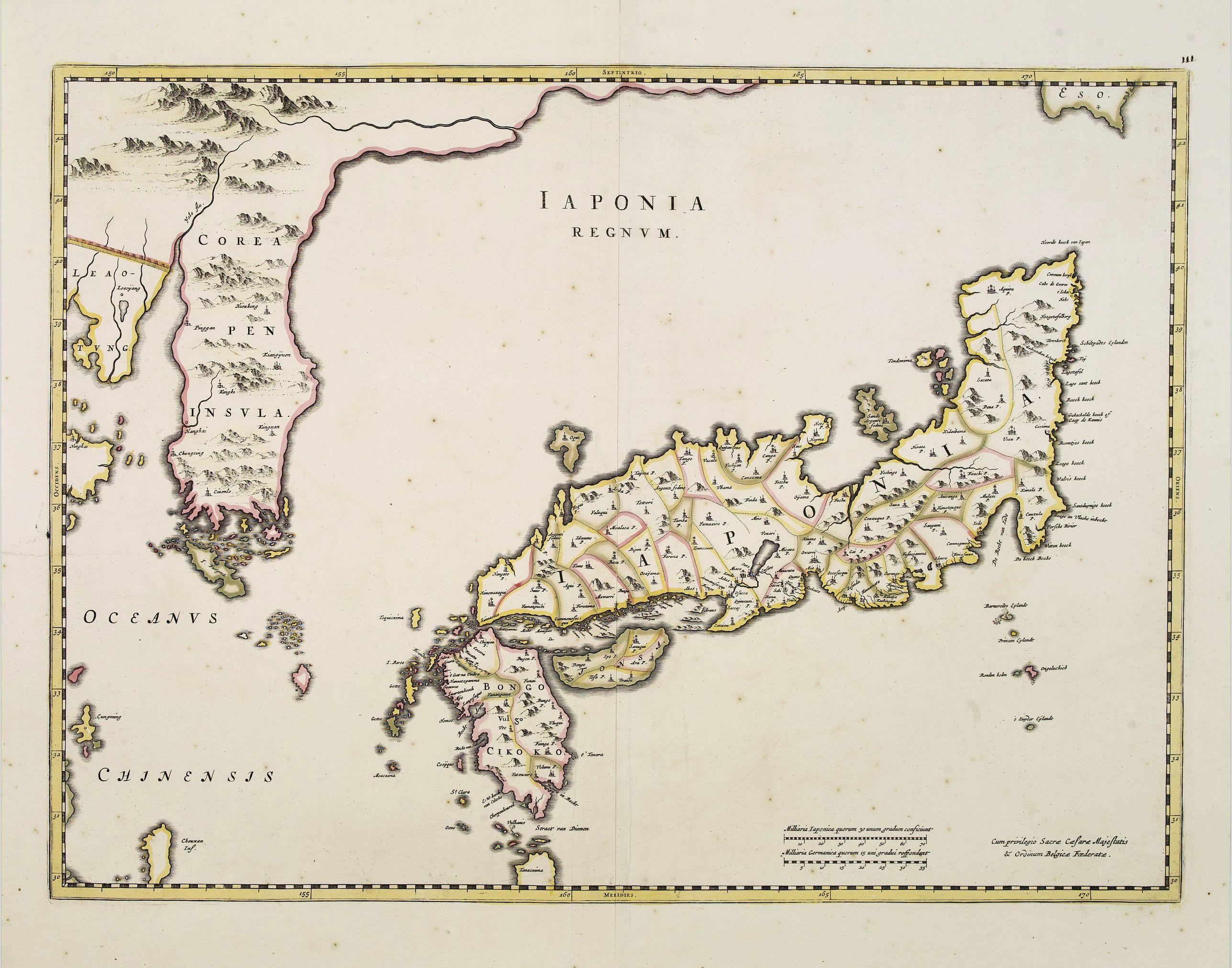 BLAEU, J. -  Japonia Regnum.