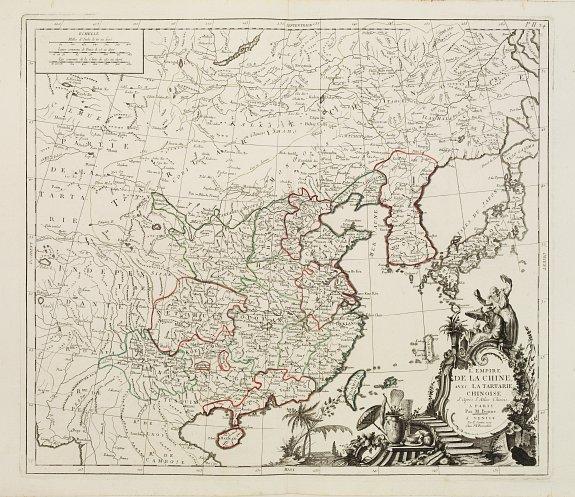 SANTINI, P. -  L'Empire de La Chine avec La Tartarie Chinoise.