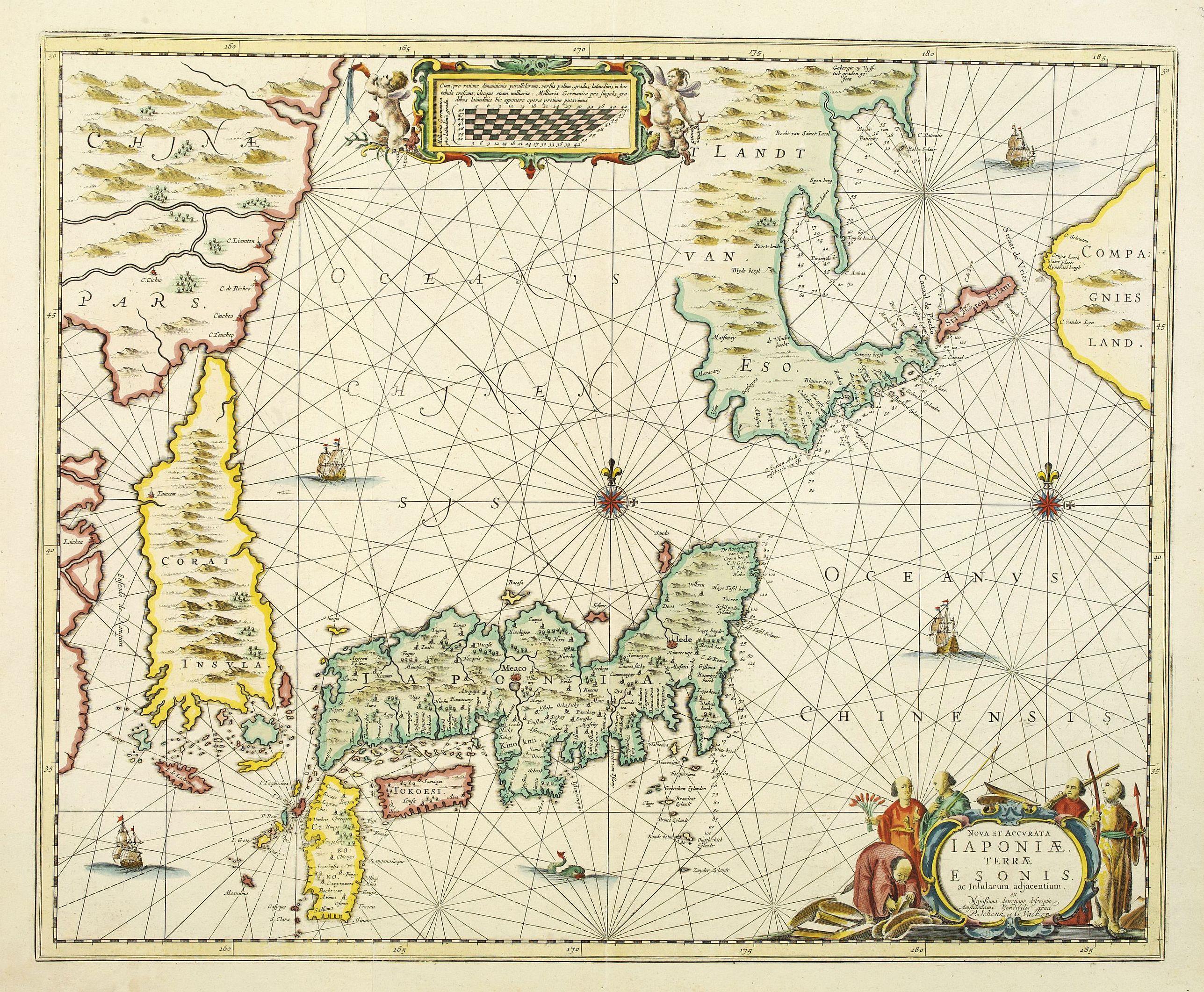 SCHENK, P./ VALK, G. -  Nova et accurata Japoniae terrae Esonis, ac Insularum adjacentium.