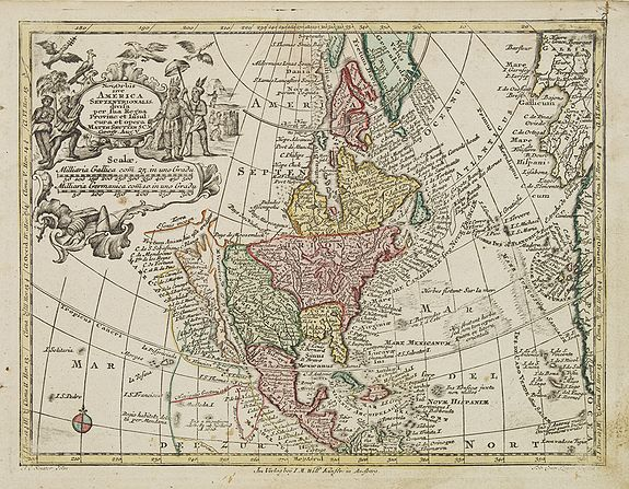 SEUTTER, M.,  Nov' Orbis Sive America Septentrionalis. . ., antique map, old maps