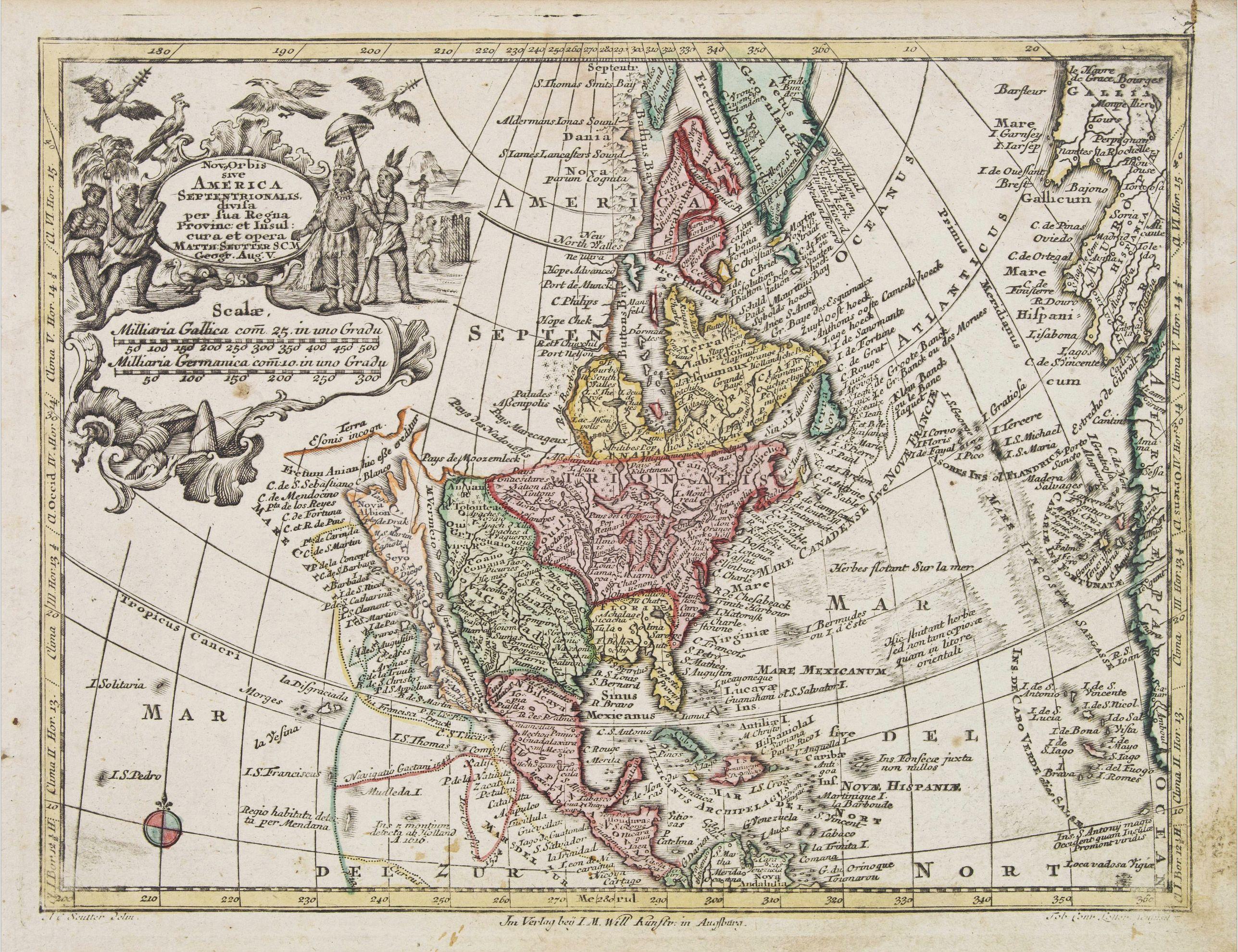 SEUTTER, M. -  Nov' Orbis Sive America Septentrionalis. . .