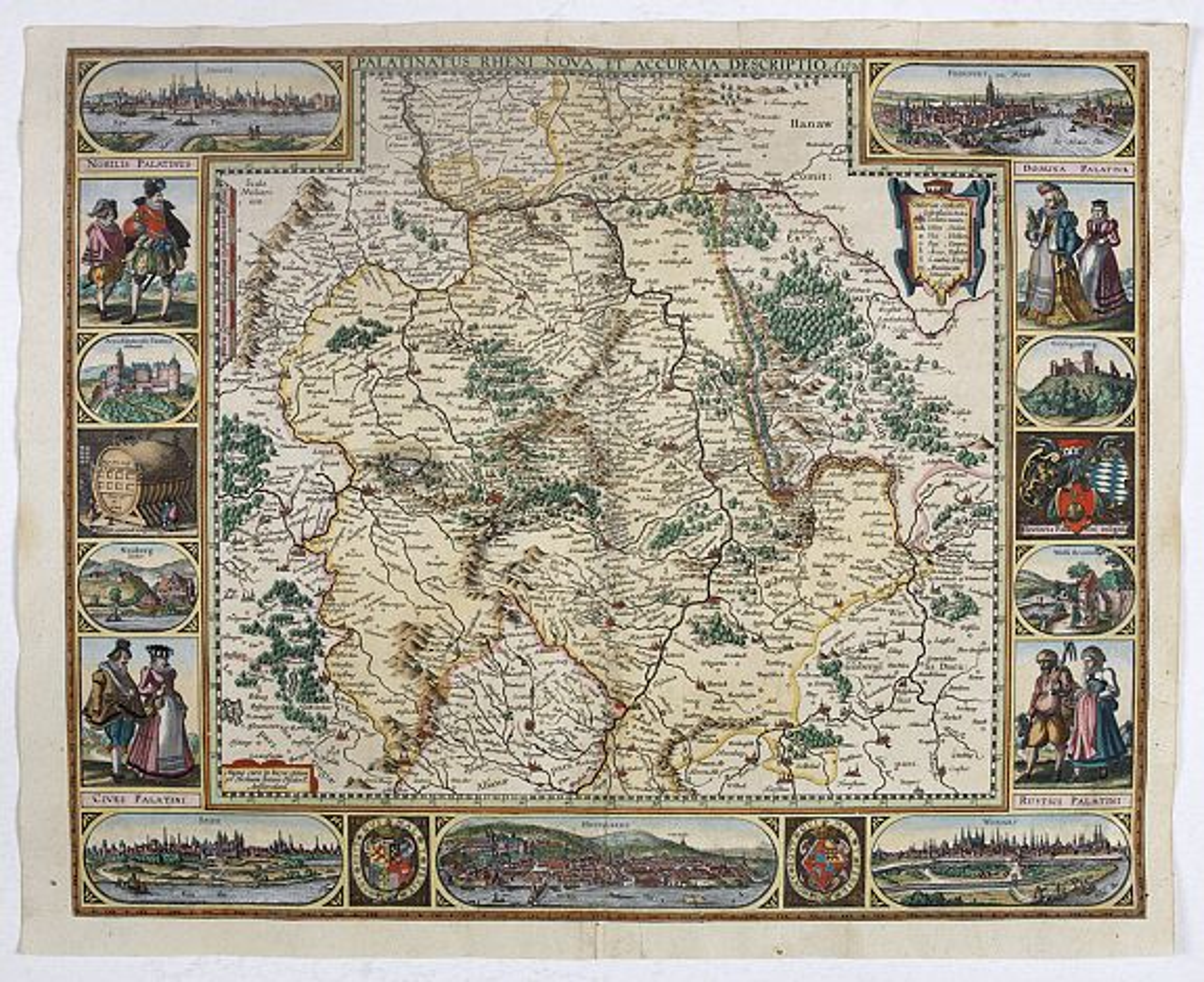 PISCATOR, N.J. -  Palatinatus Rheni Nova et Accurata Descriptio.