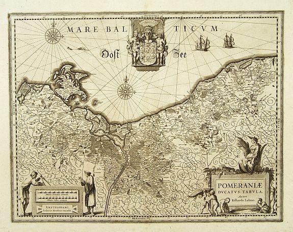 HONDIUS, J. -  Pomeraniae Ducatus Tabula. Auctore Eilhardo Lubino.