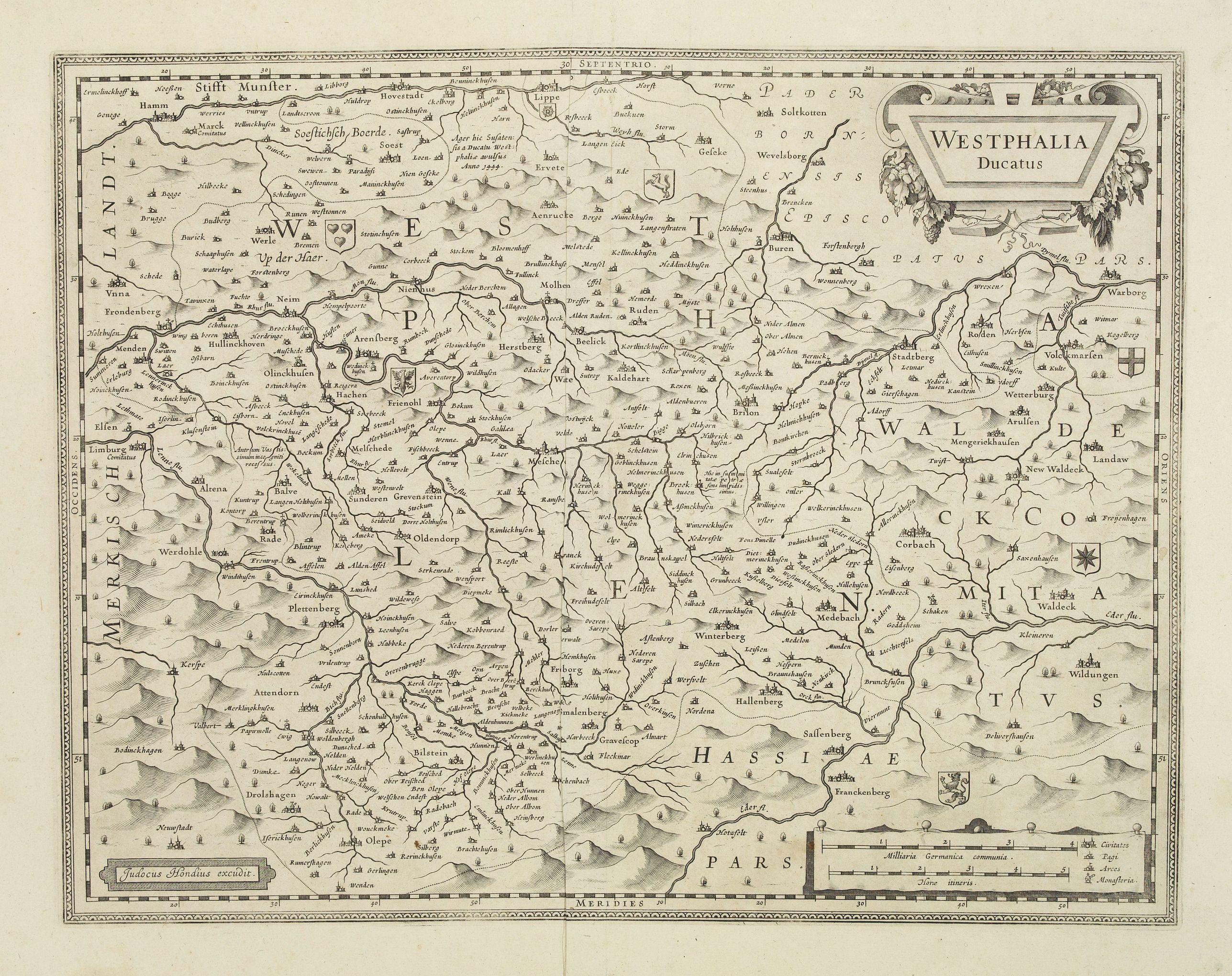 HONDIUS, J. -  Westphalia Ducatus.
