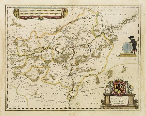 HONDIUS, H. -  Namurcum Comitatus.
