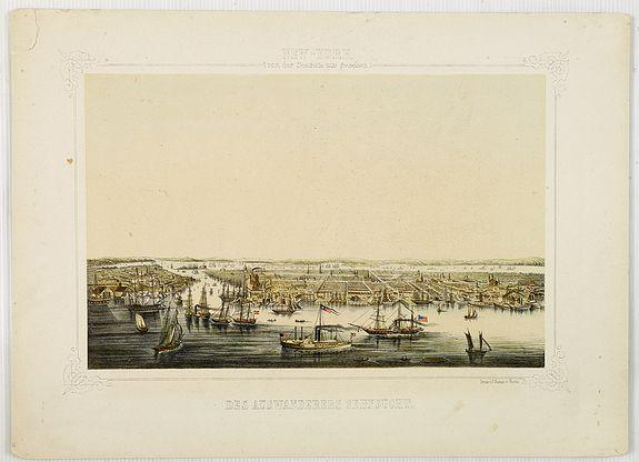 HESSE, J. -  New York von der Seeseite aus gesehen.