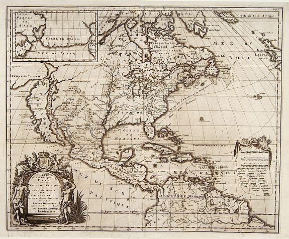 HENNEPIN, L. -  Amerique Septentrionalis Carte d'un tres grand Pays . . .