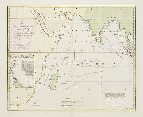 LAURIE & WHITTLE -  This chart .. tracks of ships in the different monsoons..