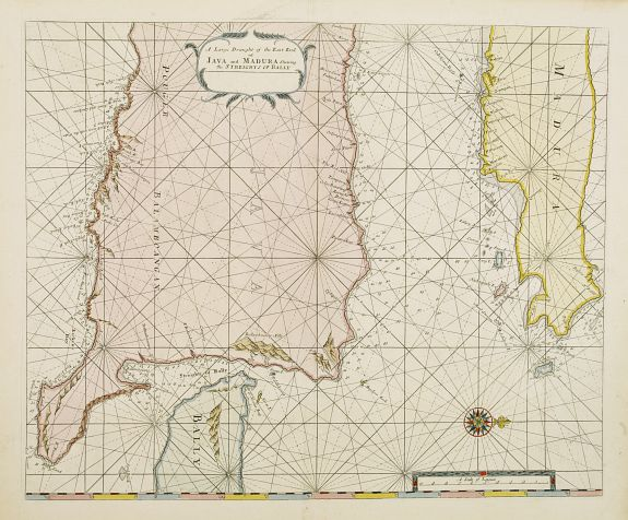MOUNT & PAGE.,  A large Draught of the East End of Java and Madura. . ., antique map, old maps