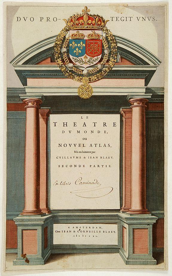 BLAEU, J. / C. -  [Title page] Le Theatre du Monde ou Nouvel Atlas. . .