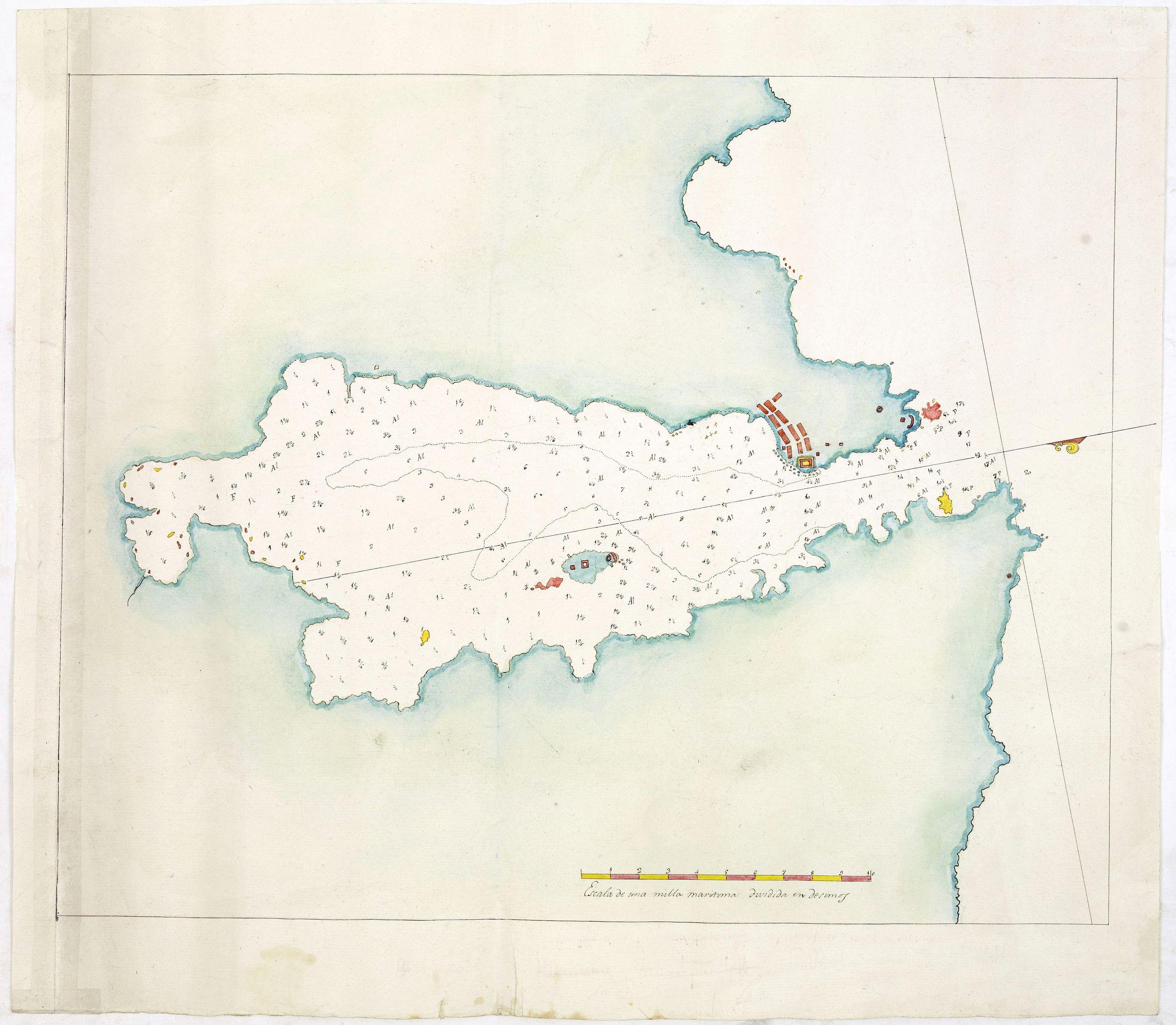 ANONYMOUS -  Manuscript plan of Havana harbour.