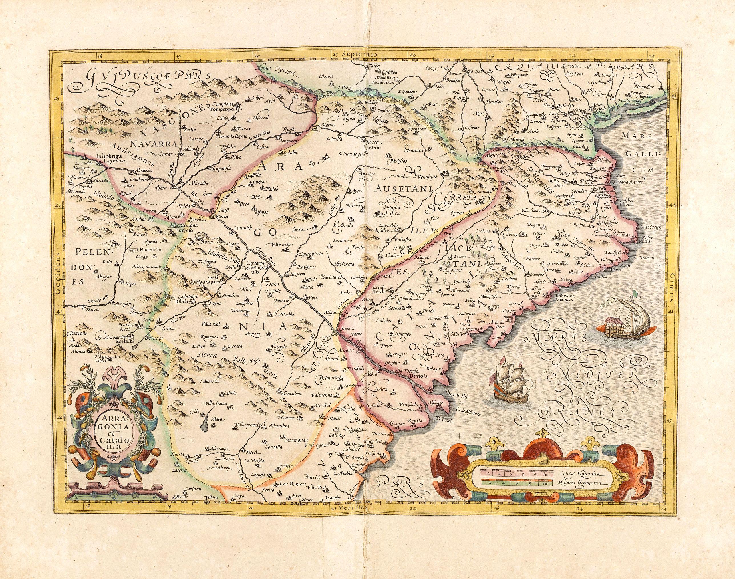 HONDIUS, J. -  Arragonia et Catalonia.
