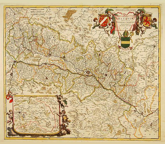 DE WIT, F. -  Utriusque Alsatiae ducatus Dupontil, et Spirensis. . .
