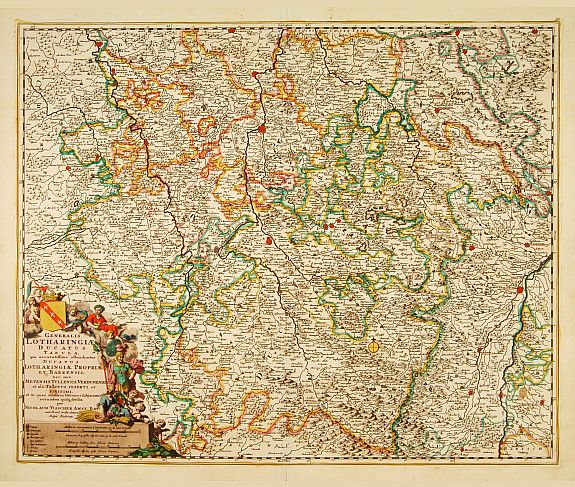 VISSCHER, N. -  Generalis Lotharingia ducatus tabula. . .