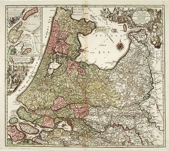 SEUTTER, M. -  Tabula comitatus Hollandiae. . .