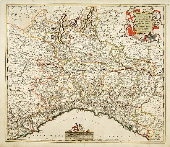 DE WIT,F. -  Reipublicae Genuensis et Ducatus Mediolanensis..