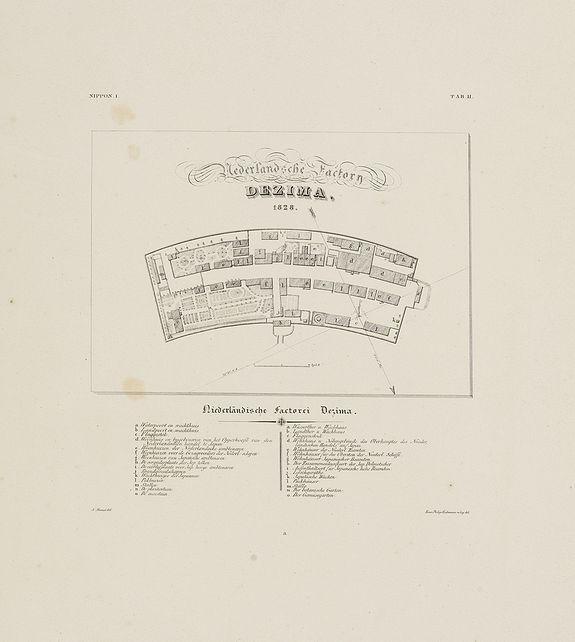 VON SIEBOLD, P.Fr.B. -  Nederlandsche Factory DEZIMA 1828.