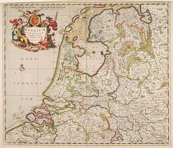 DE WIT, F -  Belgium Foederatum emendate auctum et novissim� editum.