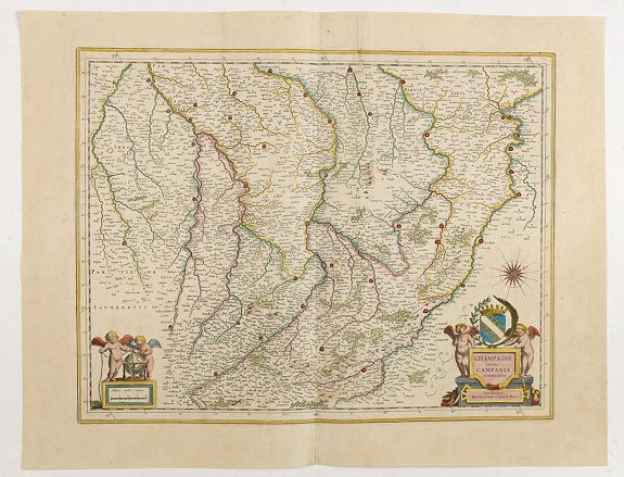 BLAEU, W. / J. -  Champagne latine Campania, comitatus.