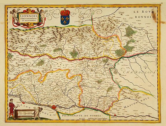 JANSSONIUS, J. -  Lionnois Forest, Beauiolois et Masconnois.