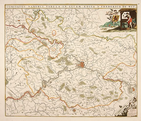 DE WIT, F,  Comitatus Namurci Tabula in Lucem. . ., antique map, old maps