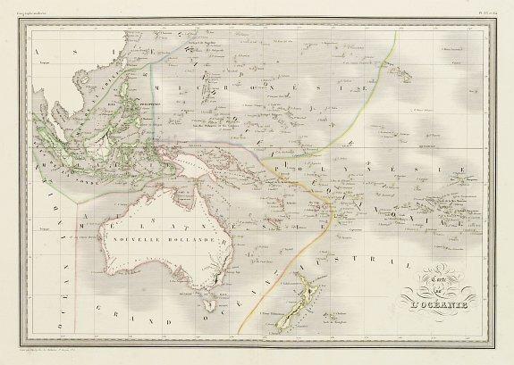 MALTE BRUN, C. -  Carte de l'Océanie.
