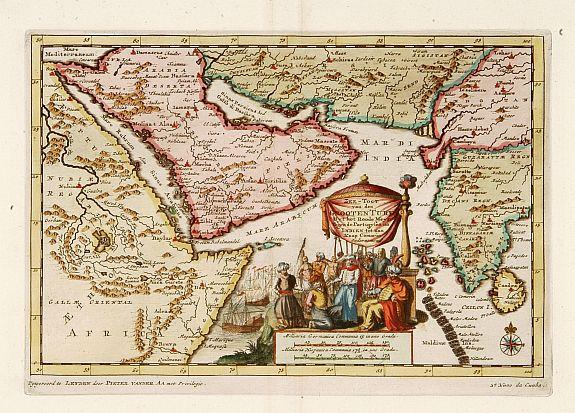 VAN DER AA, P. -  Zee-Togt van den Grooten Turk Uyt het Roode Meyr Tegen de Portugy fen na Indien tot aan Kaap Comorin Ondernomen.