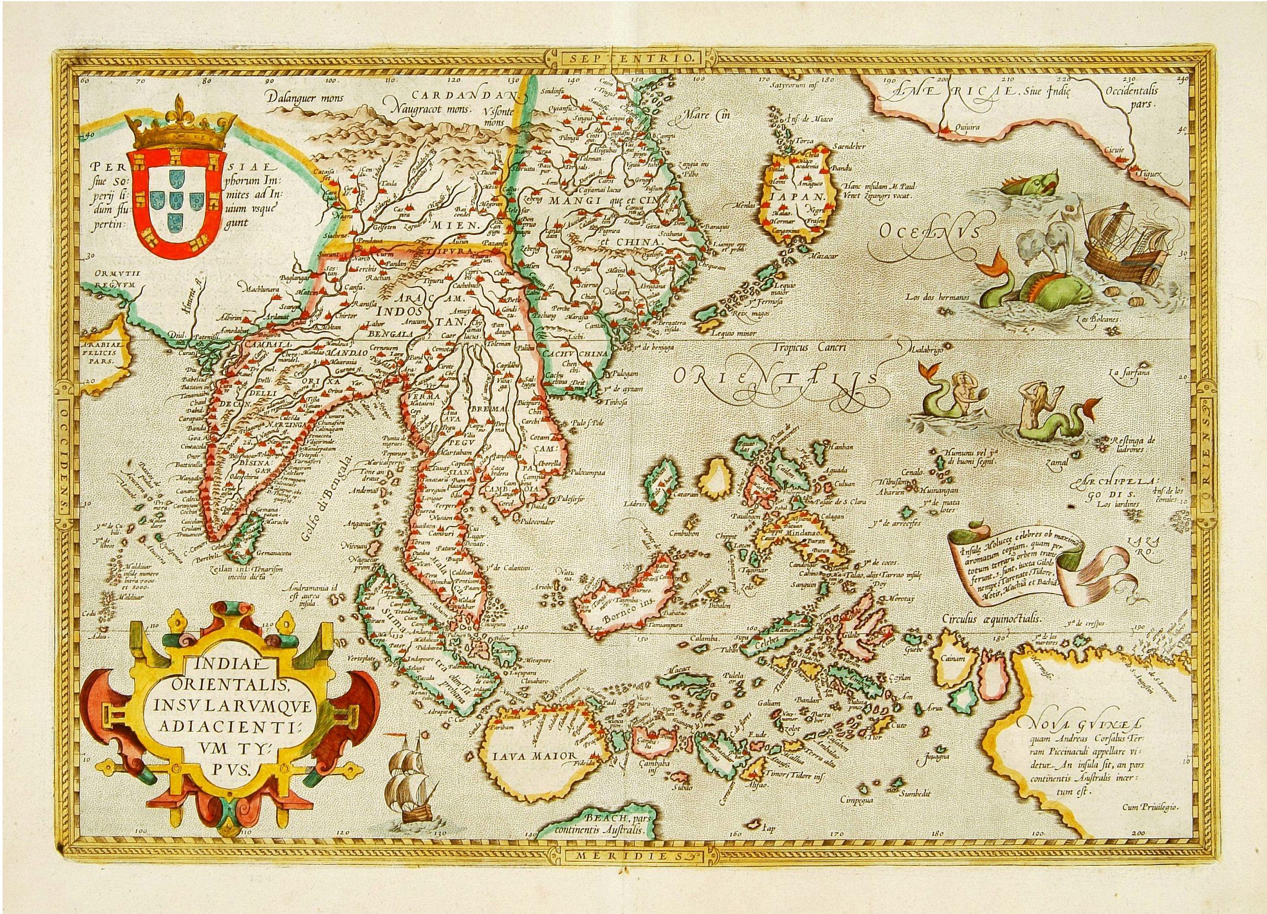 ORTELIUS, A. -  Indiae Orientalis Insularum que. . .