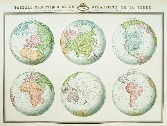GARNIER, F.A. -  Tableau synoptique de la sphericite de la Terre,..