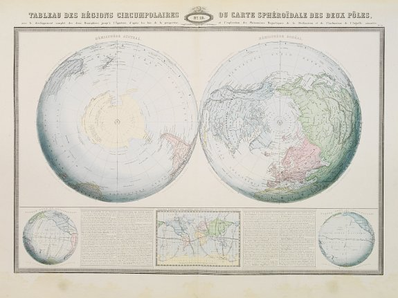 GARNIER,F.A. -  Tableau des regions circumpolaires..deux poles,..