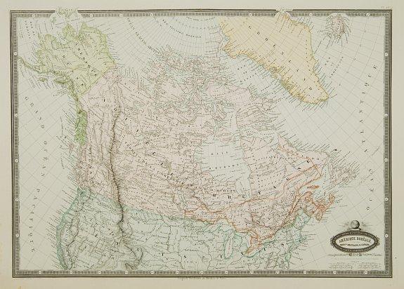 GARNIER,F.A. -  Amérique Boréale, Nouv.le Bretagne & Canada.