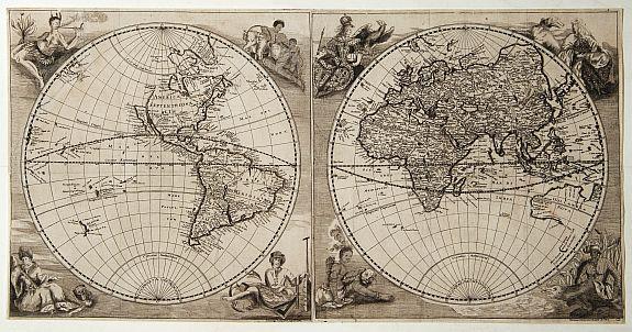 Happel world map in double hemisphere happelew world map in double hemisphere gumiabroncs Images