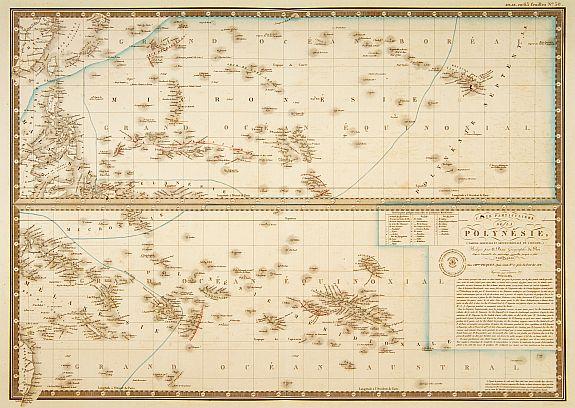 BRUE, A. -  Carte particuliere de la Polynesie. . .