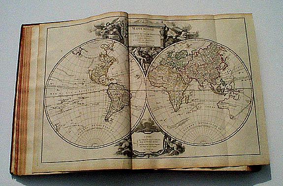 VAUGONDY, R. de -  Atlas Universel Par M. Robert Geographe ordinaire du Roy