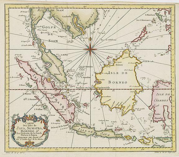 BELLIN, J.N. -  Carte Des Isles de Java, Sumatra, Borneo..Malaca et Banca..